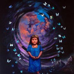 la niña de las mariposas