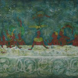 Planeación del sarcofago del rey pakal o versión maya de la ultima cena